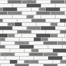 Wallpaper Tiling Oblong Granite Black 89191 Full