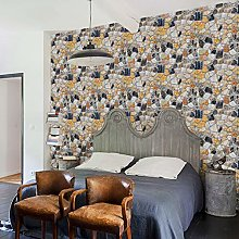 Wallpaper Vintage Easy to Remove Home Wall Sticker