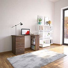 Walnut Desk with Drawers & Storage for Home Office