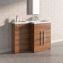 Walnut Right Hand Bathroom Furniture Wash Stands