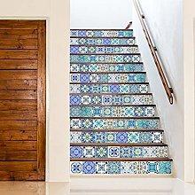 WALPLUS 15cm 24pcs Sky Classic Blue Mosaic Wall