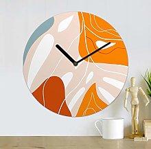 WALPLUS Abstract Tropical MDF Wall Clock 30cm