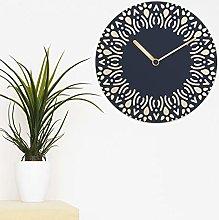 WALPLUS Ethnic MDF Wall Clock 30cm Navy Colourful
