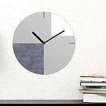 WALPLUS Grey Geometric Wall Clock 30cm MDF