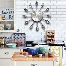 WALPLUS Spoon and Froks Clock-WS2042, Silver