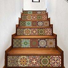 WALPLUS WFS028 - Arabic Colourful Tiles Stairs