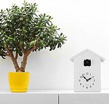 WALPLUS White Cuckoo Clock Black Window Wall Clock