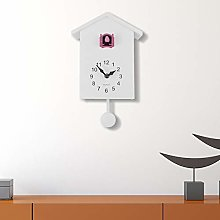 WALPLUS White Cuckoo Clock Pink Window Wall Clock