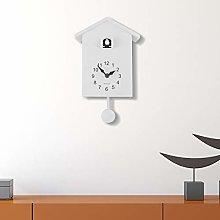 WALPLUS White Cuckoo Clock White Window Wall Clock