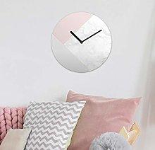 WALPLUS White Marble MDF Wall Clock 30cm