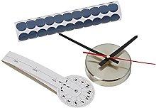 WALPLUS WSC2033-Wall Clock-Silver Dots 10A022