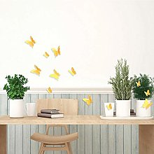 Walplus Yellow 3D Butterfly 10x6 cm Wall Stickers