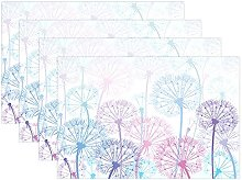 Wamika Plant Placemats Set of 6, Blue and Pink