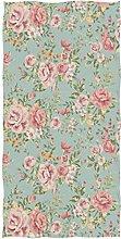 Wamika Vintage Flower Green Bath Towels, Floral