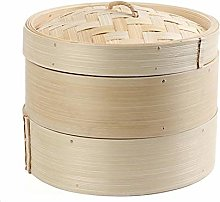 wana Reliable Steamer, 2-layer Bamboo Steamer,