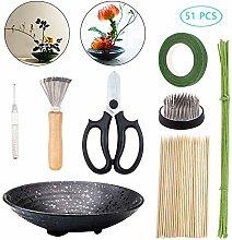 WANDIC Flower Arrangement Kit, Set of 51, Round