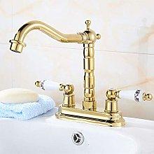 WANDOM Antique Double-Hole Faucet, Two-Piece