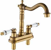 WANDOM Antique Double-Hole Faucet, Two-Unit