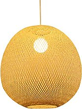 wangch Bamboo Lantern Pendant Lamp, Rattan Wicker