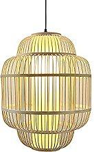 wangch Chinese Retro Bamboo Lantern Pendant Lamp,