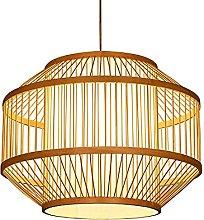 wangch Japanese-style Bamboo Lantern Pendant Lamp,