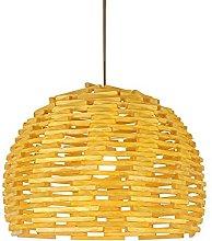 wangch New Chinese Bamboo Woven Chandelier,