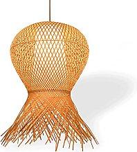 wangch New Chinese Bamboo Woven Hanging Light, E27