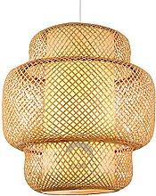 wangch Nordic Bamboo Chandelier, E27 Lighting