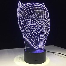 WANGJIA 3D Led Black Panther Night Light USB Touch