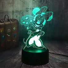 WANGJIA Kawaii Minnie Mouse Figure Cartoon 7 Color