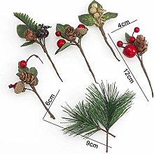 WANGTONG Christmas Baubles 5Pcs Pine Branch+2Pcs