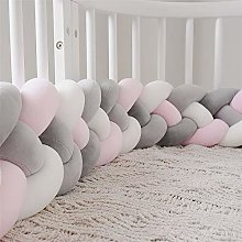Wanguo Cot Bumper Braid Pillow Baby Head Guard
