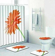 WANGXIAO Elegant flower white background Shower