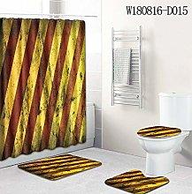 WANGXIAO Farbstreifen geometrisches Muster Shower