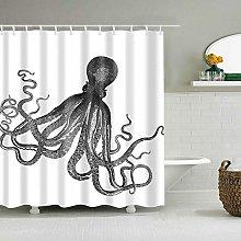 WANGXIAO Octopus Meerestiere Shower curtain, 12