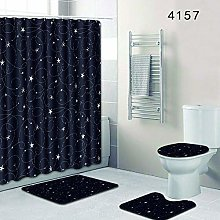 WANGXIAO Sterne blauer Hintergrund Shower curtain,