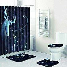 WANGXIAO Tierelch Shower curtain, 12 hook shower