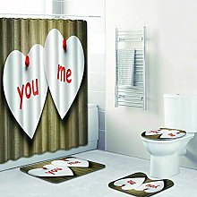 WANGXIAO Valentine's day love Shower curtain,