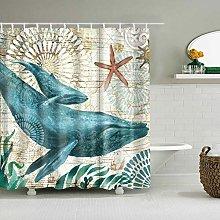 WANGXIAO Watercolor sea turtle Shower curtain, 12