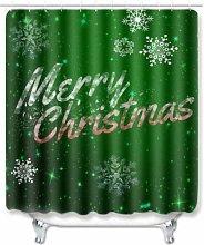 WANGXIAO Weihnachtsgrüner Hintergrund Shower