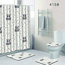 WANGXIAO Weißer Hintergrund des Alphabets Shower