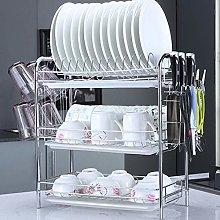 wangxike 3 Tier Dish Drainer Rack with Drip Tray,