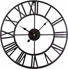 wangxike 50CM Large Wall Clock Vintage XXL, Silent