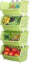 wangxike Fruit Vegetable Storage Rack, 4 Tier