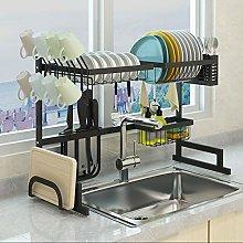 wangxike Over Sink Dish Drainer Rack, 2-Tier 65cm
