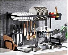 wangxike Over Sink Dish Drainer Rack, 2-Tier 85cm