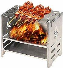 wangYUEQ Mini Foldable BBQ Grill Stainless Steel