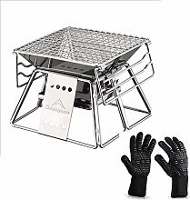 wangYUEQ Outdoor Indoor Barbecue Charcoal Grill