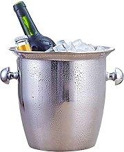 wangYUEQ Stainless Steel Thickened Ice Bucket Wine