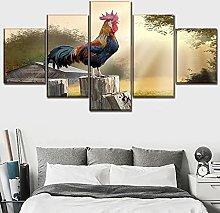 WANGZHONG 5 Panels Giclee Canvas Prints Landscape